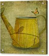 Watering Can With Texture Acrylic Print