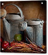 Watering Cans Acrylic Print