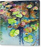 Waterlilies In Shadow Acrylic Print
