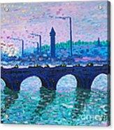 Waterloo Bridge Homage To Monet Acrylic Print by Kevin Croitz