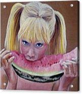 Watermelon Bite Acrylic Print