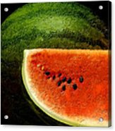Watermelon Acrylic Print by David Blank
