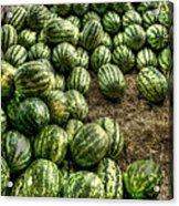 Watermelon Man Watermelon Stand Acrylic Print by William Fields