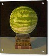Watermelon Portrait Acrylic Print