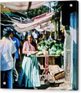 Watermelons At The Market Acrylic Print