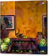 Watermelons On The Window Sill Acrylic Print