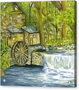 Watermill In The Woods Acrylic Print