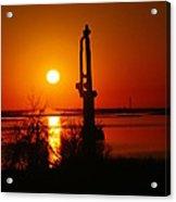 Waterpump In The Sunrise Acrylic Print by Jeff Swan