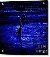 Water's Up In Neon Tweaked Acrylic Print