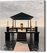 Waterside Gazebo Acrylic Print