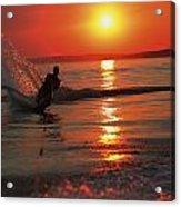 Waterskiing At Sunset Acrylic Print