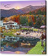 Waterville Estates In Autumn Acrylic Print by Nancy Griswold