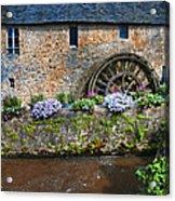 Waterwheel In Brittany Acrylic Print