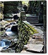 Watkins Glen Exiting The Trail Acrylic Print