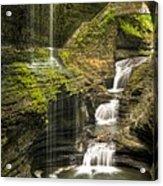 Watkins Glen Falls Acrylic Print by Anthony Sacco