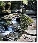 Watkins Glen State Park Acrylic Print by Frozen in Time Fine Art Photography