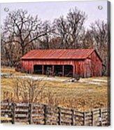 Watkins Mill Barn Acrylic Print