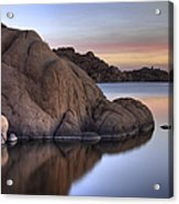 Watson Lake Arizona Colors Acrylic Print