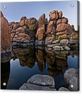 Watson Lake Arizona Reflections Acrylic Print by Dave Dilli