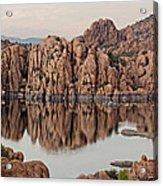 Watson Lake Tranquility Acrylic Print by Angie Schutt
