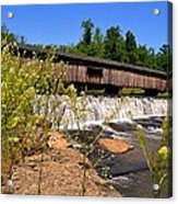 Watson Mill Covered Bridge From The Jetty Acrylic Print