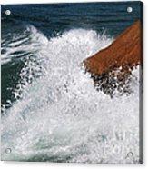 Wave Action Florianopolis Acrylic Print