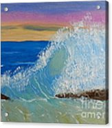 Wave At Sunrise Acrylic Print