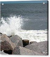 Wave Breaks On Rocks Acrylic Print by Tammy Wallace