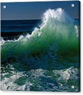 Wave Crashing On Pacific Coast, Oregon Acrylic Print
