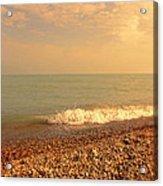 Wave On Rocky Beach Acrylic Print