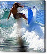 Wave Rider Acrylic Print by Karen Wiles