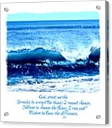 Wave Serenity Prayer Acrylic Print