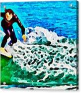 Wave Surfer Acrylic Print