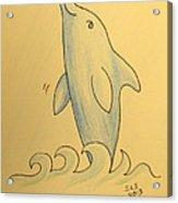Wave The Suzuki Dolphin Acrylic Print by Sheri Lauren Schmidt