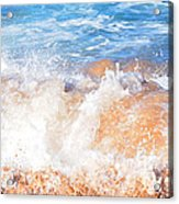 Wave Up Close Acrylic Print