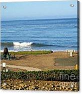 Wave Upon San Simeon Shore Acrylic Print