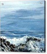 Waves A Crashing Acrylic Print