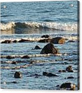 Waves And Rocks Acrylic Print