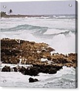 Waves Pounding Costa Maya, Mexico Acrylic Print