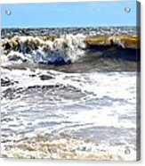 Waves At Tybee Acrylic Print