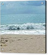 Waves At Vero Beach Fl Acrylic Print