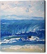 Waves At West Cape May Nj Acrylic Print