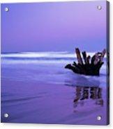 Waves Break On The Beach At Dawn Acrylic Print