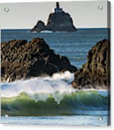Waves Breaking At Ecola State Park Acrylic Print
