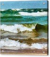 Waves Crash Acrylic Print