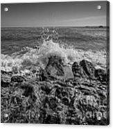 Waves Crashing Bw Acrylic Print