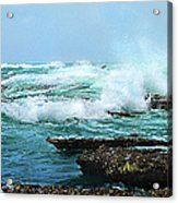 Waves Hitting Shore Acrylic Print