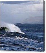 Waves In Easkey 2 Acrylic Print by Tony Reddington