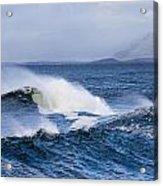 Waves In Easkey 4 Acrylic Print by Tony Reddington