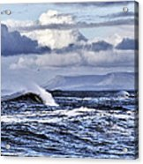 Waves In Easkey Acrylic Print by Tony Reddington
